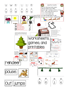 Christmas Kindergarten ELA growing bundle