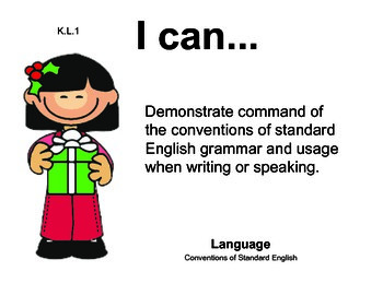 Christmas Kindergarten English Common core standards posters