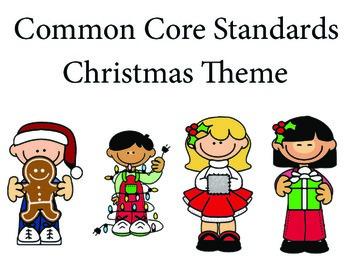 Christmas Kindergarten English Common core standards posters