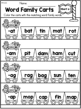 Christmas Literacy Worksheets (Kindergarten)