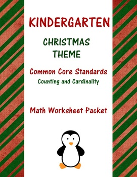 Christmas Kindergarten Math Common Core Worksheets by ...