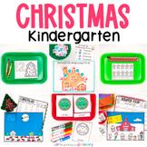 Christmas Kindergarten Math & Literacy Centers   Morning Work Tubs   Task Box