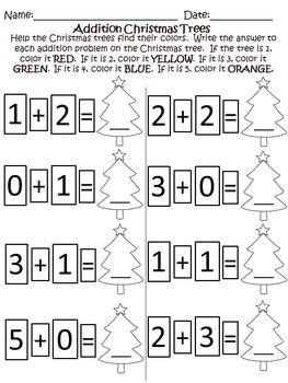 Christmas Kindergarten Math Worksheets