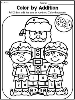 Christmas Kindergarten Math Worksheets (Common Core ...