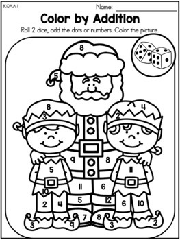Christmas Math Worksheets Kindergarten By United Teaching Tpt