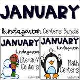Winter {January} Kindergarten Math and Literacy Centers