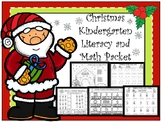 Christmas Kindergarten Math and Literacy Pack