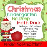 Christmas Kindergarten No Prep Math Pack