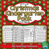 Christmas Kindergarten Pack, No Prep, CCSS Aligned