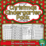 Christmas Kindergarten Pack ~ Print & Go, No Prep ~ CCSS Aligned