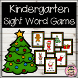 Christmas Kindergarten Sight Word Game