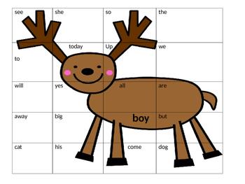 Christmas Kindergarten Sight Word Puzzles