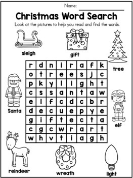 christmas kindergarten vocabulary activities by united teaching tpt. Black Bedroom Furniture Sets. Home Design Ideas
