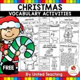 Christmas Activities - Vocabulary (FREE)