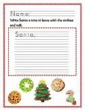 Christmas Kindergarten Writing Freebie