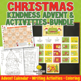CHRISTMAS ADVENT CALENDAR Kindness, Writing Activities and