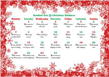 Christmas Kindness Calendar