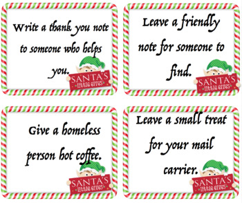 photograph relating to Kindness Cards Printable named Xmas Kindness Playing cards Down load