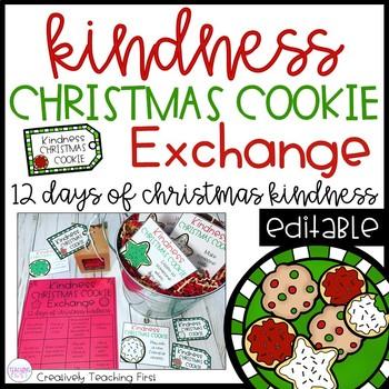 Kindness Christmas Cookie Exchange - EDITABLE