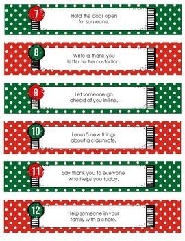 Christmas Kindness Countdown (Chain & Calendar)