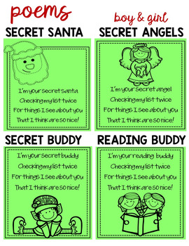 Christmas Kindness Activities & Writing Crafts for Secret Santa of Kind Words