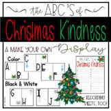 Christmas Kindness Through the Alphabet: a Make Your Own ABC Display