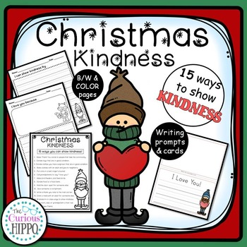 Christmas Kindness ideas, writing prompts, and card templates