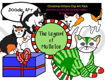 Christmas Kittens Clipart Pack
