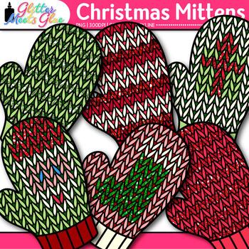 Christmas Knit Mitten Clip Art {Winter Clothes for Digital Scrapbooking}