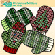 Christmas Knit Mitten Clip Art {Winter Clothes for Digital