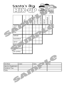 Christmas LOGIC PUZZLES: 5 Critical Thinking Activities with Grids and Tables