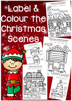 Christmas Label and Colour Activity