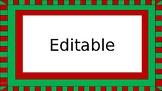 Christmas Labels (Editable)