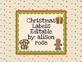 Christmas Labels editable