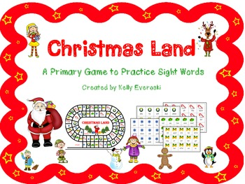 Christmas Land - A Primary Game to Practice Sight Words!