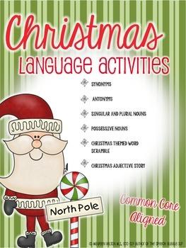 Christmas Language Activities: Common Core Aligned