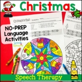Christmas Speech and Language Activities with Mandala colo