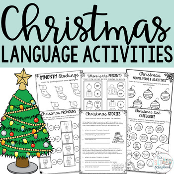 Christmas Language Activities for Speech Therapy/EAL/ESL/EFL