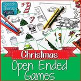 Christmas Language & Articulation Activities Freebie