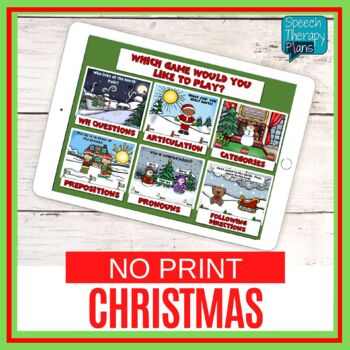 No Print Christmas Language & Articulation Games