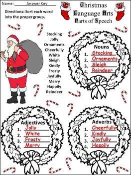 Christmas Language Arts Activity Packet