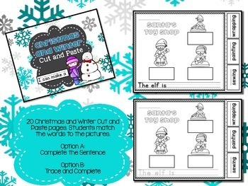 Christmas Word Work - Cut and Paste Sentences for Winter