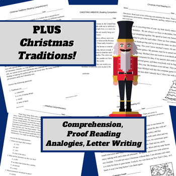 Christmas Language Arts Activities for 3rd - 5th grades