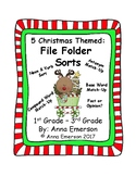 Christmas Language Arts File Folder Games