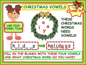 Christmas Literacy Activities: Vowels and More!