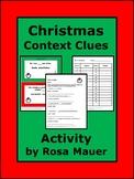 Christmas Language Arts Holiday Context Clues Vocabulary Activity