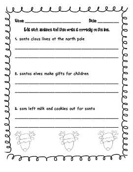 Christmas Language Arts Pack