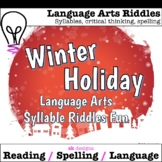 Christmas Language Arts Riddles Syllables Spelling Game Go