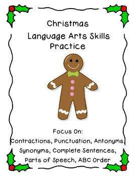 Christmas Language Arts Skills Practice