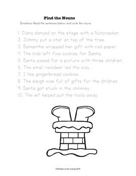 Christmas Language Arts for K-3
